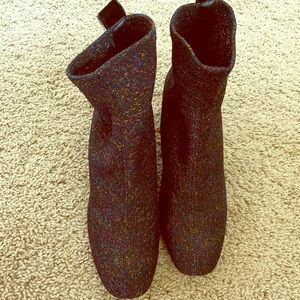 Zara knitted heeled boots